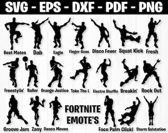 fortnite svg png dxf ai eps bundle files for cricut projects instant download fortnite vector files fortnite bundle svg eps png jpg - fortnite dance moves names