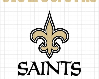 New Orleans Saints Svg Etsy