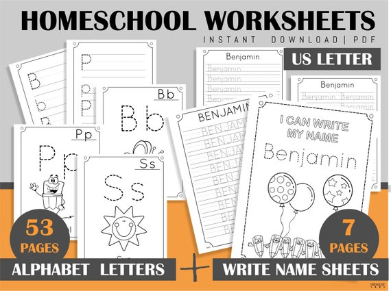 Printable Custom Name Handwriting Practice Sheets & Alphabet Etsy