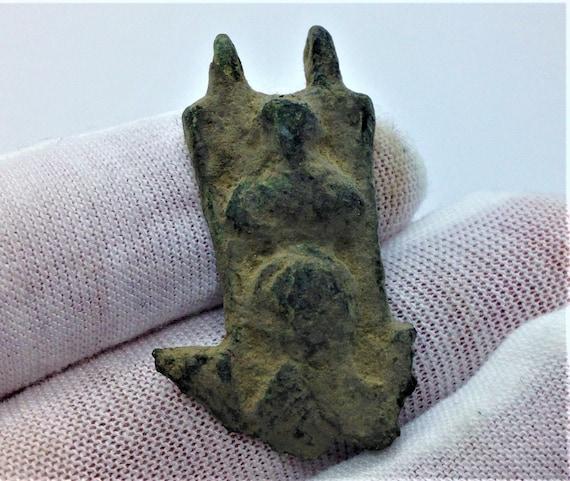 Ancient Bronze Medieval Saints Fragment Pendant -