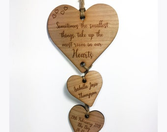 Decorative Handpainted Personalised Wooden Heart Sign I/'M AS LUCKY AS Family