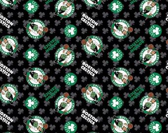 Mens Necktie Boston Celtics Toss  Print  Celtics Fabric Made To Order