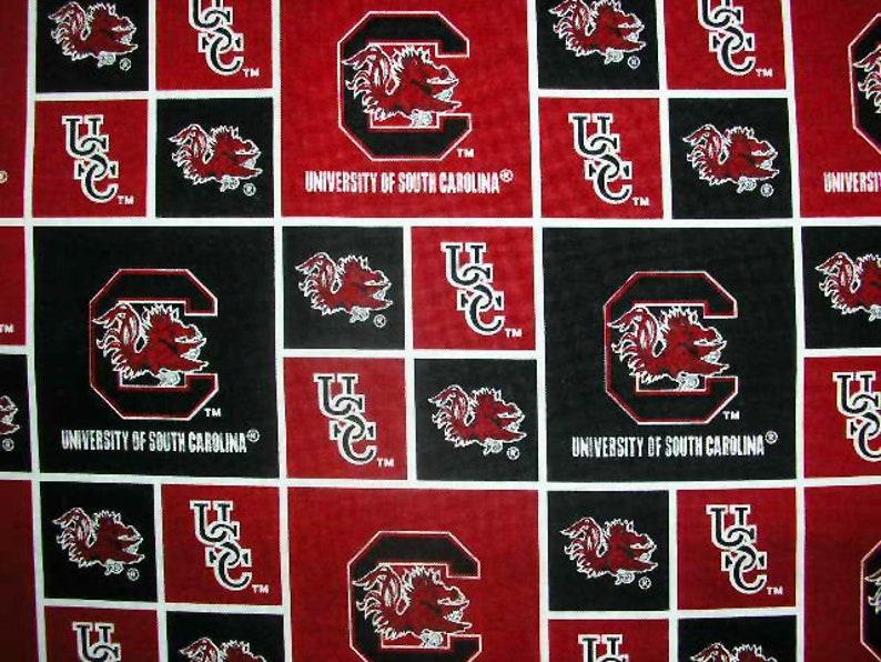 University of South Carolina Fabric by the Yard or by Half Yard Gamecocks USC