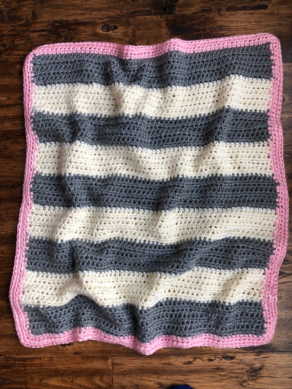 Stroller Blanket Modern Nursery Baby Blanket Baby Girl Lavender and Gray Grey  FAST SHIPPING Newborn Shower Gift