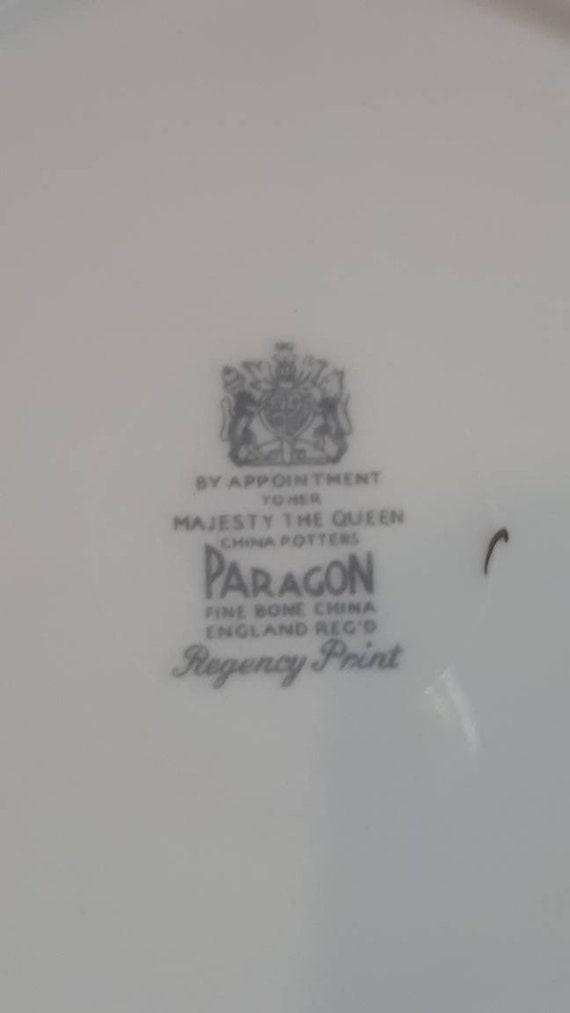 Vintage Paragon Regency Print 5 Piece Dinnerware Set