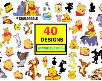 Winnie the pooh svg,winnie the pooh cut files for cricut,winnie the pooh clipart,disney bundle svg,winnie the pooh silhouette