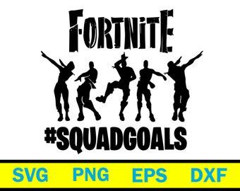 Fortnite bundle svg,Fortnite Squadgoals SVG File, Fortnite Squadgoals Cut File, Fortnite Svg, Png, Silhouette Dxf, Svg Cutting File