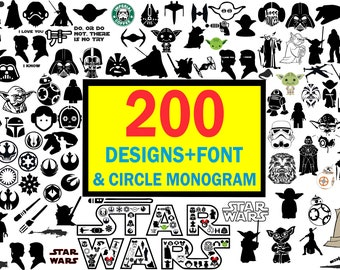 Star wars svg,Star wars clipart,Star wars silhouette,Star wars cut files,Star wars cricut,Star wars font svg,Darth vader svg