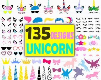 Unicorn horn svg | Etsy