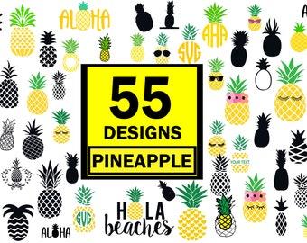 Pineapple svg, pineapple bundle svg, Pineapple Clipart,Silhouette Cut Files,Pineapple print SVG,Pineapple Vector,svg File for Cricut