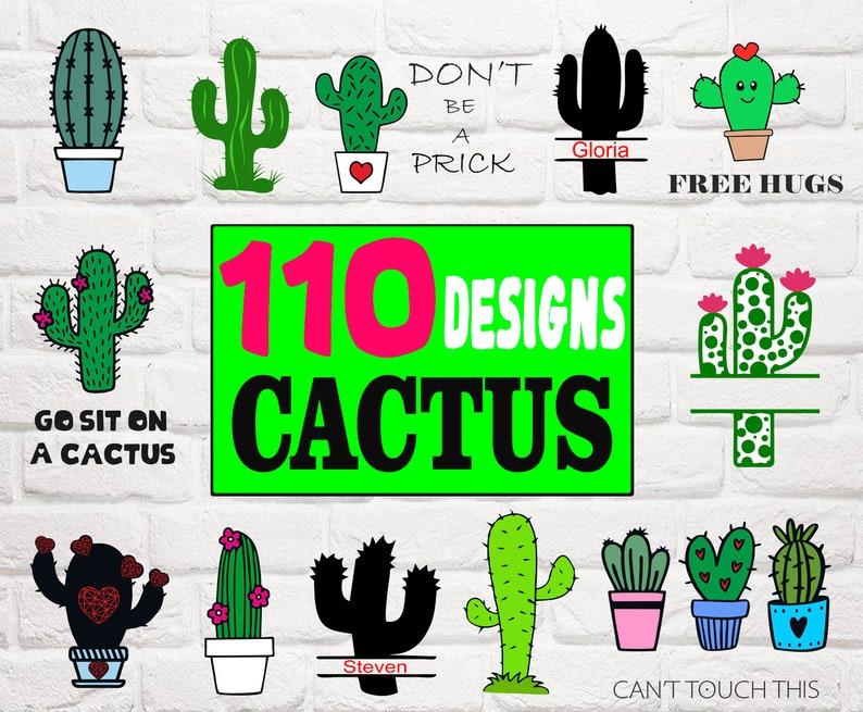 Cactus Svgcactus Clipartcactus Silhouettecactus Cut Etsy