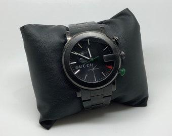 5bea6bb5ec5 Unisex Gucci-Chrono Black Stainless Steel Bracelet Watch 44mm YA101331