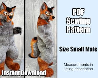 DIGITAL Digitigrade Bodysuit Pattern for Fursuits - PDF Download