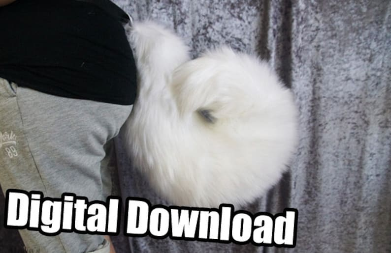 DIGITAL Curled Tail Pattern for Fursuits  PDF Download image 0