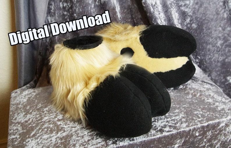 DIGITAL Sock Paw Hooves Pattern for Fursuits  PDF Download image 0
