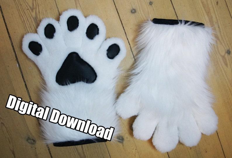 DIGITAL 5-Fingered Hand Paw Pattern for Fursuits  PDF image 0
