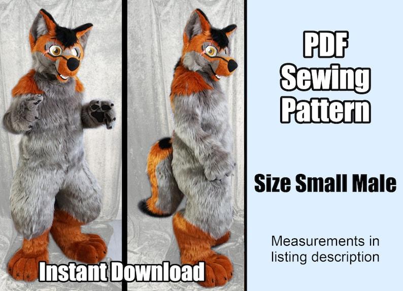 DIGITAL Digitigrade Bodysuit Pattern for Fursuits  PDF image 0