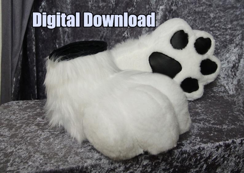 DIGITAL Sock Paws Pattern for Fursuits  PDF Download image 0