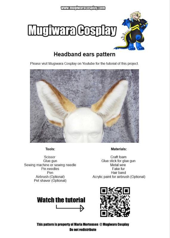 fennec fox canine cat headband ears patterns pdf download etsy