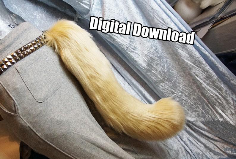 DIGITAL Feline Tail Pattern for Fursuits  PDF Download image 0