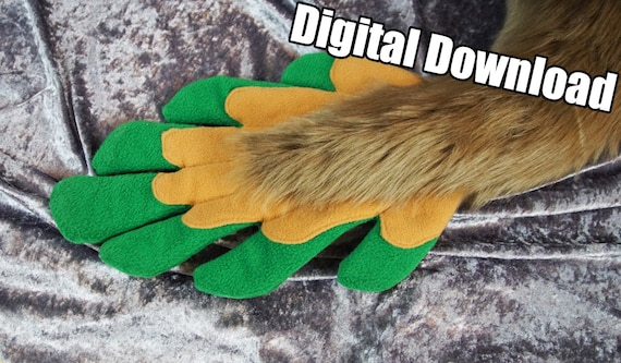 PDF Download DIGITAL Tail Feathers Pattern for Fursuits