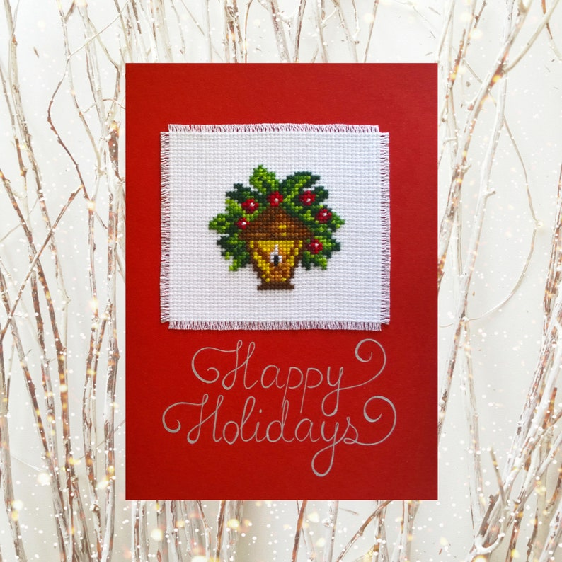Christmas Cards Embroidered Handmade Christmas Cards Original Etsy