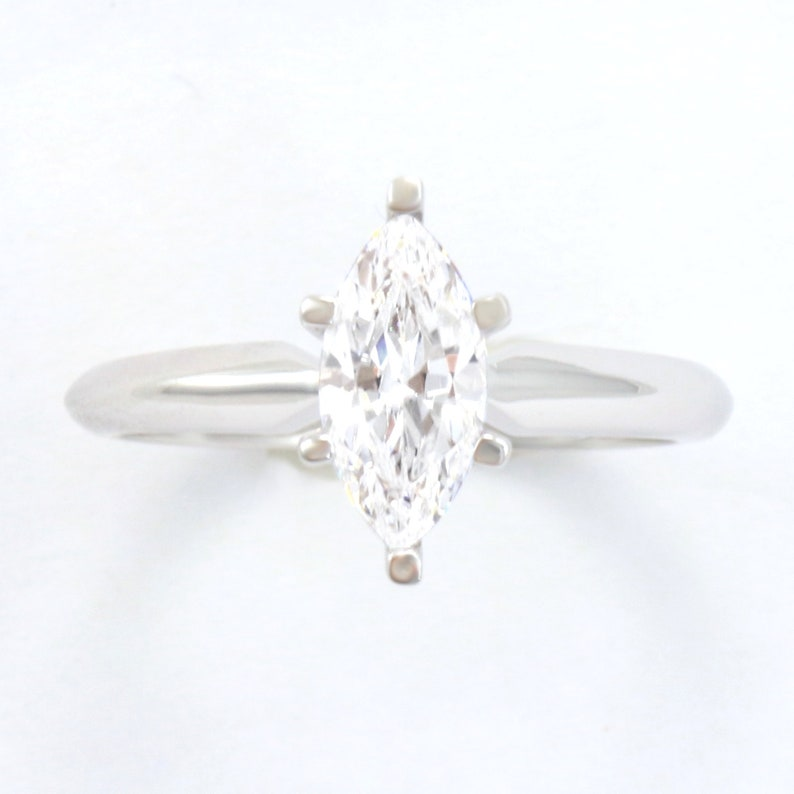 1ct Marquise Cut Classic Solitaire Engagement Promise Ring Solid 14k Yellow Gold