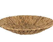 Water Hyacinth Tray, Ottoman Tray, Coffee Table Tray, Woven Wicker Tray, Wicker Tray for Coffee Tables, Round Woven Tray, Basket Tray