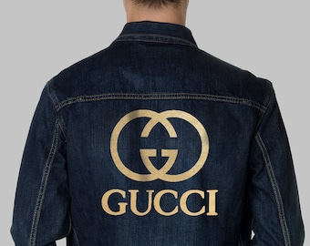 24d8a05621d Gucci Jacket Painted Gift For Gucci Men Sweatshirt Gift For Him Gucci  Inspired Mens Clothes Gucci Champion Mens Denim CO1086