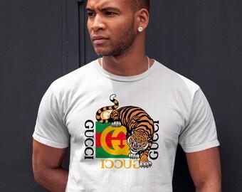 3aa6b34e1fc Gucci Tiger Gang Kawaii Unisex Champion Inspired Shirt T Shirt Hipster  Tshirt Aesthetic Tumblr Vintage T-shirt For Clothing All Sizes CO1028