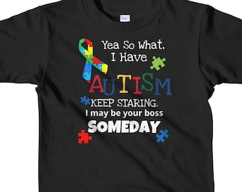 8dfc3ea0d Autism With A Statement Youth T-Shirt Kids
