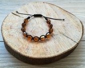 Beautiful Elegant Sparkly Bracelet with Amber Topaz coloured Crystal Beads