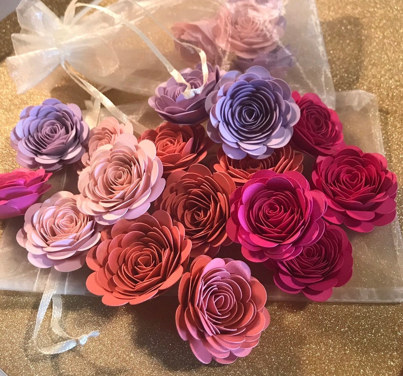 Small Paper Flowers Mixed Flowers Quill Flowers Wedding Decor Dyi Flowers Party Decor Shower Decor Flower Wall Decor