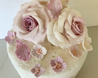 Flowers And Number Edible Sugar Cupcake Toppers 12 Modern And Elegant In Fashion Baking Accs. & Cake Decorating