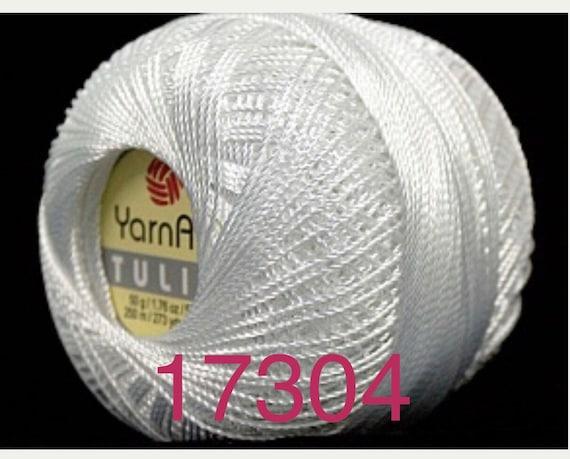 Silky Weight Size 0 PURPLE Tulip YarnArt Microfiber Crochet Thread Size 10
