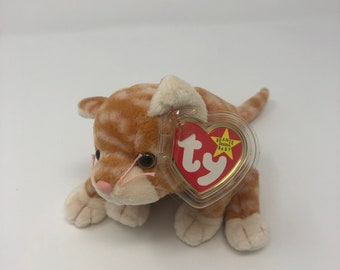 13ed5758d91 TY Beanie Baby - Amber the Gold Tabby Cat