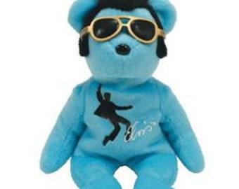 TY Beanie Baby - Blue Beanie Shoes the Elvis Bear (8.5 inch) (Mint) da21bdeac29f