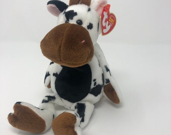 TY Beanie Baby - TIPSY the Cow (9 inch) 0b00485c6294