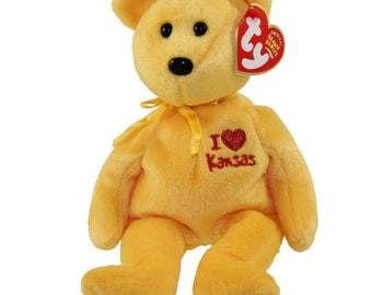 TY Beanie Baby - KANSAS the Bear (I Love Kansas - State Exclusive) (8.5  inch) cc334992c2a8