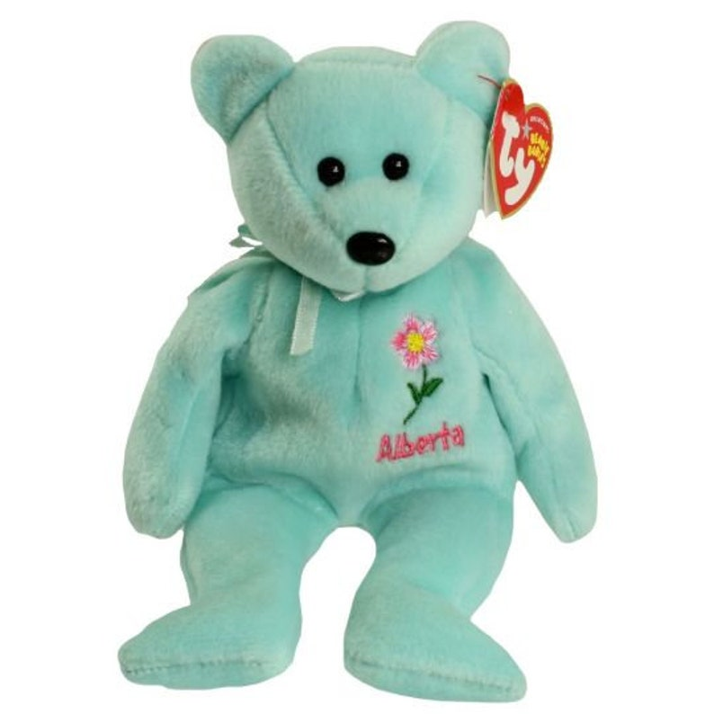 82a0253c08a TY Beanie Baby ALBERTA Wild Rose the Bear Canada Show