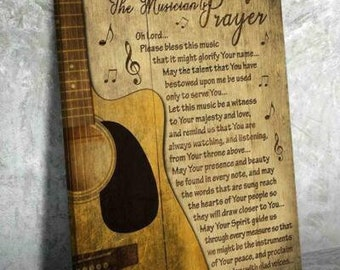 Piano The Musician Prayer Oh Lord Please Bless This Music Canvas .75in Framed