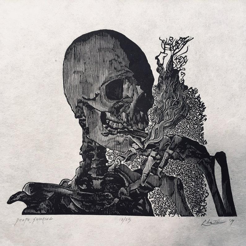 Death Smoking Prints Art & Collectibles tiosdurvis.lv