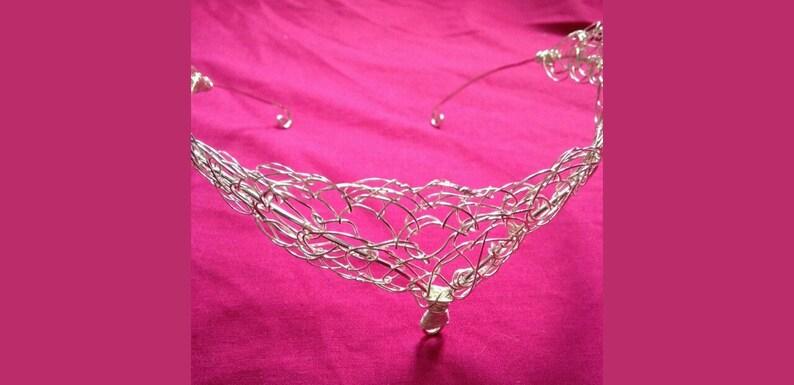 Silver plated goddess circlet crown tiara