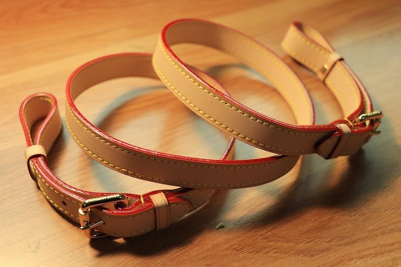 4e15adabc5b0 Vachetta Leather two end adjustable shoulder bag strap for Small Bags  Pochette Mini NM Eva Favorite PM MM