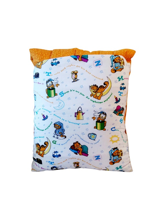 Sleepy Garfield Blanket And Pillow A Throw To Go Etsy