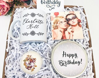 Personalized Happy Birthday Box Gift For Her Friend Woman