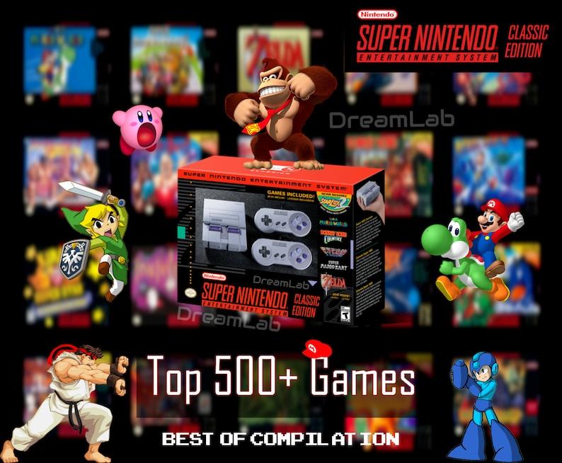 Super Nintendo SNES Classic Retro Gaming Console 500+ Games, NES, Zelda,  Mario