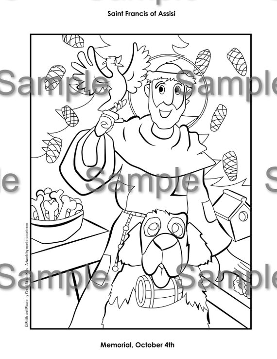St. Francis of Assisi Coloring pages for Catholic Kids | Catholic ... | 738x570
