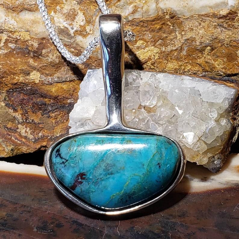Blue turquoise pendant