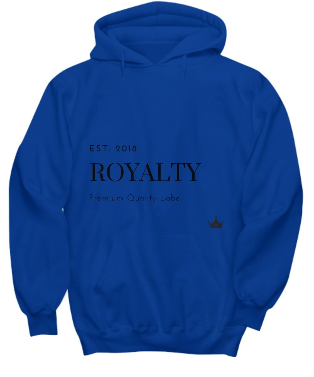 Royalty Men Womens Him Blue Hoodie Long Sleeve Shirtgraphic